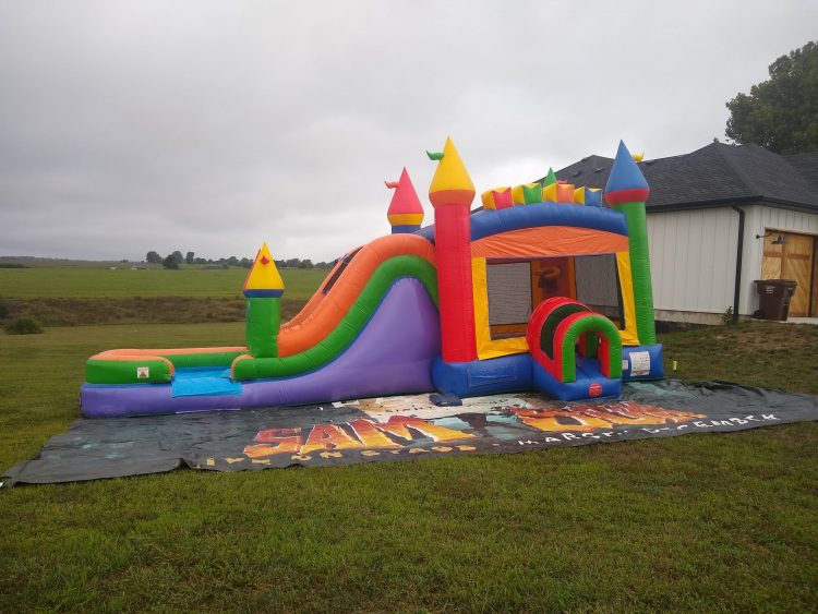 Primary Bounce house with slide combo rental springfield missouri