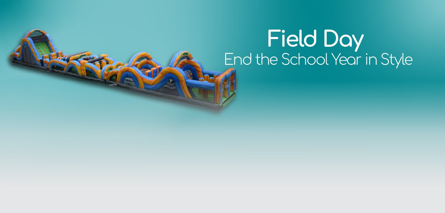Field Day bounce house obstacle course rental springfield